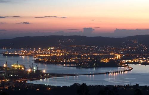 Ferrol á noite por xaimex.