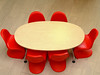 Meeting Table (mnadi) Tags: red work table office team chairs top contemporary meeting business vitra tabletop redchair vernerpanton أحمر