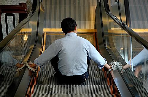 Escalator Cleaning by pmorgan (flickr)