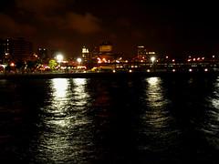 Smoky Skyline after July 4 Fireworks Img_0082a (Lanterna) Tags: sky reflection water night river dark downtown tribeca july4 lanterna canonpowershota75