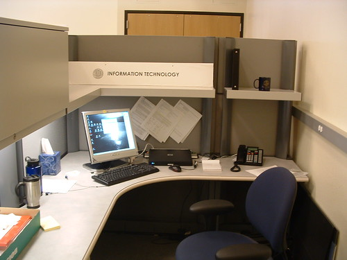 Old office - cubicle