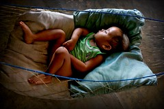 baby in a hammock - indonesia bali travel asia baby hammock sleep phitar pillow gili meno gilimeno