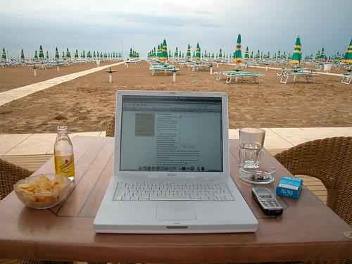 Rimini beach, 2005