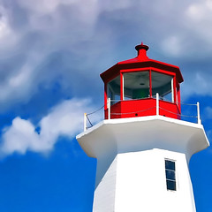 Lighthouse (Imapix) Tags: voyage travel blue light red sky lighthouse white canada window topf25 colors topc25 clouds wow wonder rouge photo topv555 photographie 500v20f lumire gutentag balcony bleu ciel maritime peggyscove nuages greatpix fentre blanc phare nouvellecosse imapix yourfavpix favpix topfavpix gatangbourque gatanbourque copyright2006gatanbourqueallrightsreserved  copyright2006gatanbourqueallrightsreserved pix50 imapixphotography gatanbourquephotography