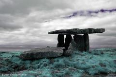 9948 (Dolmen) IR-land Detail (JMichaelSullivan) Tags: ireland landscape ir 100v clare canon20d 100v10f 10f irland infrared burren 200v 3000v 500v dolmen poulnabrone mjsfoto1956 1000v 400v 20f 2000v 800v 1500v 2500v