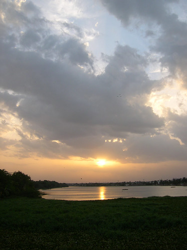 Sunset at Velachery Lake,Chennai