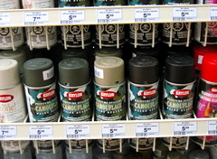 Krylon camo. (hfabulous) Tags: vancouver grandopening canadiantire shopping household hardware sports cambie krylon spraypaint bombing kryon camo camouflage graffiti supplies