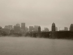 Ethereality - Sepia (Sleepy Panda) Tags: boston bridges longfellowbridge monochrome