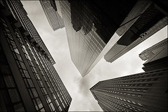 lift (davemacintosh) Tags: nyc blackandwhite streetphotography touchthesky