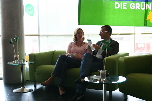 Kerstin and Volker on the Green Sofa