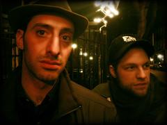 Garrett & Kevin (AnomalousNYC) Tags: nyc portrait face night outside couple kevin lowereastside garrett anomalous anomalousnyc