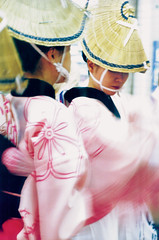 Awa Odori, dancers (Lil [Kristen Elsby]) Tags: summer woman motion blur hat festival japan japanese tokyo dance costume women asia topv1111 traditional dancer yukata  kimono matsuri obon setagaya shimokitazawa awaodori shimo  eastasia shimokita   setagayaku
