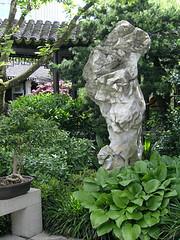 Standing stone (optically active) Tags: olympusc5060 portland classicalchinesegarden stone rock garden