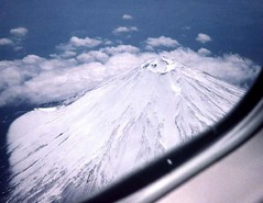 Mt. Fuji from airplane --2