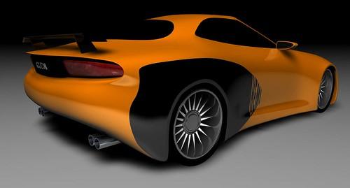 Chrysler Hemi Cuda Concept Rendering