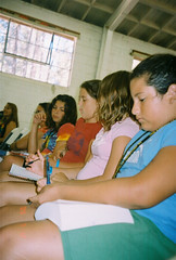 girls digging in the bible (Joonie RJ-BR) Tags: preteen camp