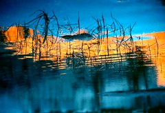 alpineglow reflections (rappensuncle) Tags: california sunset lake color reflection water 35mm hiking slidefilm scan backpacking predigital kodachrome sierranevada hpscanner nikkormatel