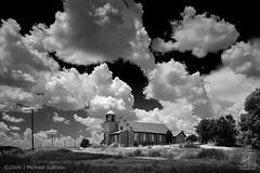 Lamy Church Abandoned (JMichaelSullivan) Tags: sky newmexico church architecture clouds topf50 500v20f topc75 100v10f 10f linhof 200v 3000v largeformat 500v lamy 100f mjsfoto1956 1000v 400v 30f 20f 60f 2000v 50f 800v 1500v 40f 70f 80f 90f 4000v 1000v40f 1600v 2500v 3500v