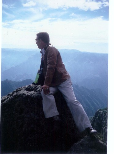 Grandpa on a mountain 1970's