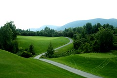 A beautiful day (hailun) Tags: sthilarire golf green course trees road sky mountain wow topv111