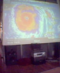 katrina on the big screen (finn) Tags: cameraphone hurricane katrina hurricanekatrina