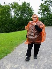 raingear Mama (ckwinny) Tags: ireland mama plasticraincoat 99cents grass trees