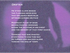 Drifter (Prophet And Poet) Tags: poem poems poet poetry poets writer writers writing words text photoshop people emotions men man male relationships