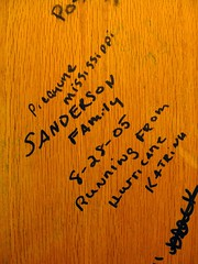 A Female Wrote This on the Door in the Restroom (Old Shoe Woman) Tags: usa wow interestingness workers louisiana florida interestingness1 truckstop most hurricanekatrina tallahassee topv9999