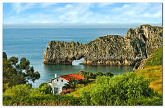 A house with views (lapidim) Tags: sea españa seascape beach topf25 rock topv555 topv333 topv444 asturias fcsea