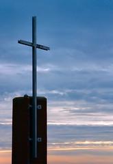 Cross in Sunrise (cindy47452) Tags: church sunrise cross indiana 100views orangecounty sihouette mtpleasantchurch mireasrealm p169