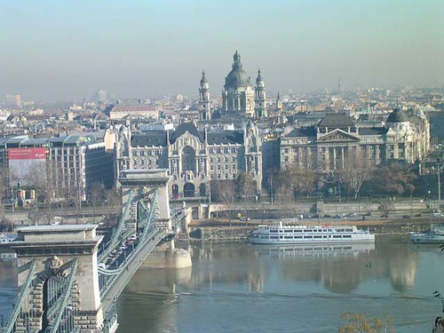 The view across the Danube