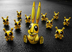 Joe Ledbetter's Mr. Bunny and Dunny friends (Drew from the Slope) Tags: toy toys urbanvinyl joeledbetter dunny jled