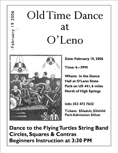 Oleno Dance Flyer February 2006