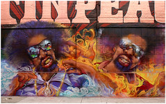 Mac Dre Tribute Mural by Hyde (funkandjazz) Tags: sanfrancisco california graffiti mural hyde characters hyder sb fsc icp andrehicks macdre