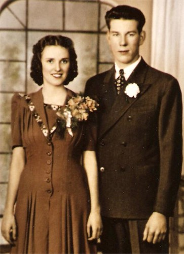 Grandma and Grandpa's wedding picture
