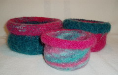 Felted stackable bowls