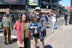 Me, James, and Jack in front of Tiger Stadium