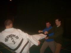 UCD TKD Club Training - UCD Sports Centre (March 2007) (irlLordy) Tags: ireland dublin club training march break greg kick taekwondo tkd ucd 2007 sportscentre cillian fearghal mrlechmar mrohaodha