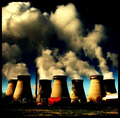 (andrewlee1967) Tags: uk chimney england sky water clouds dark landscape smoke yorkshire steam pollution powerstation vapour coolingtowers ef1855mm ferrybridge andrewlee canon400d andrewlee1967 superaplus aplusphoto focusman5