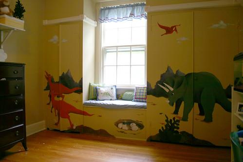 dinosaur murals wallpaper.  Dinosaur Mural