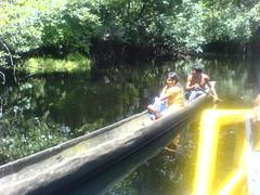 warao indian canoe