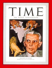 Mohamed Ali Jinnah on the cover of Time Magazine in 1946 (Doc Kazi) Tags: pakistan london history time gandhi punjab barrister karachi nwfp sind nehru jinnah cripps balochistan