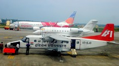 At Kochi Airport (Aiel) Tags: tarmac aviation tag boeing cochin a320 bombardier dornier gdget indianairlines challenger600 do228 tagaviation a320214 kochiairport airindiaexpress goair vtaxn vtway vtejo aiexpress b7378hj do228201