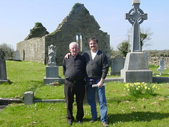 With Father Ryan at Annagh Graveyard