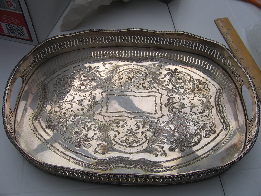 Silverplate (oval) tray