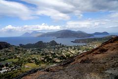 Die Liparischen Inseln von Vulcano aus