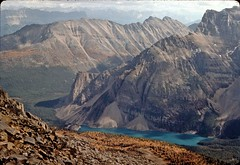 Moraine Lake and Mount Babel (altamons) Tags: mountain canada mountains rockies nationalpark interestingness interesting hiking rocky scout canadian hike explore alberta banff rockymountains mountainview scramble banffnationalpark scrambling larchvalley canadianrockies scouted explored specland altamons anawesomeshot superbmasterpiece travelerphotos diamondclassphotographer flickrdiamond ysplix
