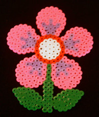 Hama Bead Flower (Altered Angel) Tags: hot flower beads handmade craft melt hama perler