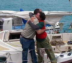 Donna Lange step ashore in Bermuda