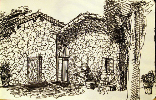 studio outside sketch